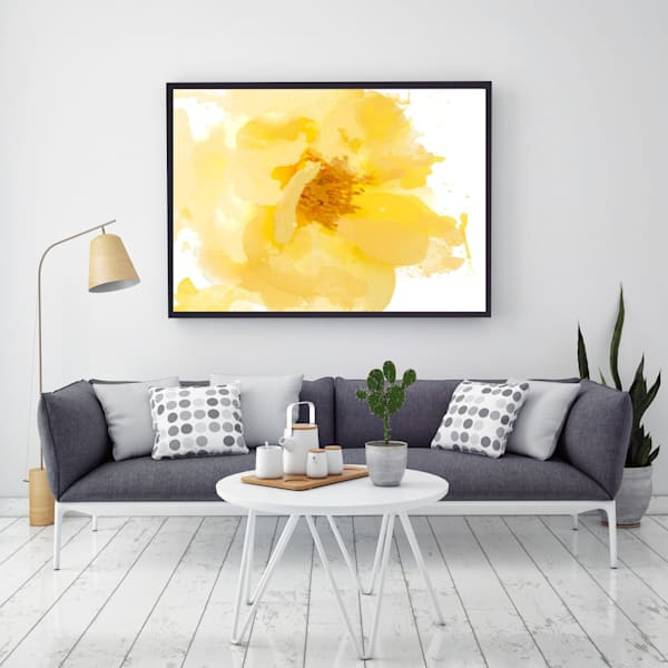 "Beautiful And Bright   Original Yellow Flower Oil/Acrylic Oversized Painting On Canvas 48 X 36"" Art | Irena Orlov Art"