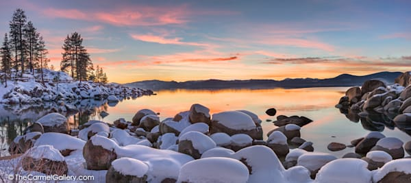 Sand Harbor Sunset Photo