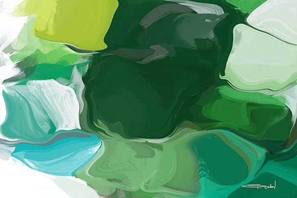 Ode to Spring, Contemporary Abstract Green Art