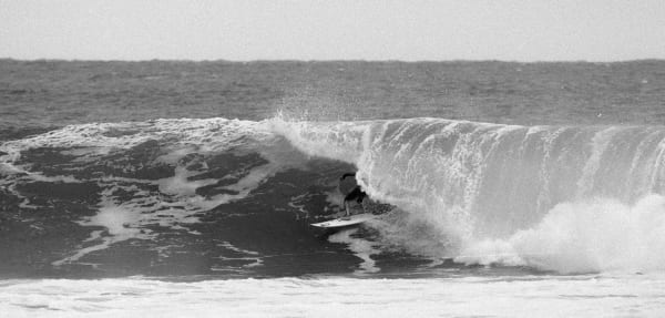 Italian surf star Leonardo Fioravanti while making the film, Bella Vita