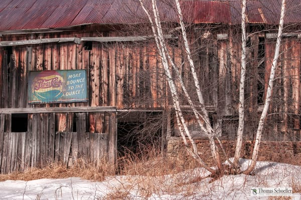 New Hampshire Winter barn scene/Americana art prints by Thomas Schoeller