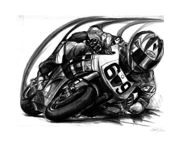 Nicky Hayden Motorcycle Racing Team Honda #69
