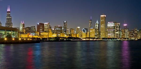 Chicago Pink Skyline