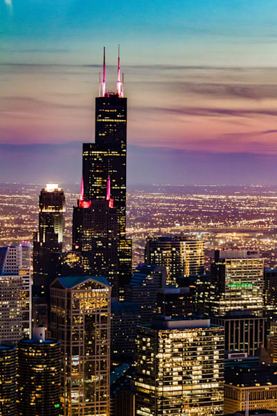 The Willis Tower (Sears Tower) stands tall