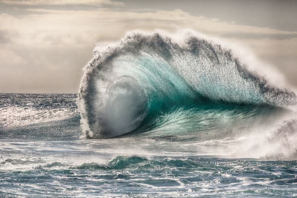 """Silver Spike"" Wave Photography by Steve Munch"