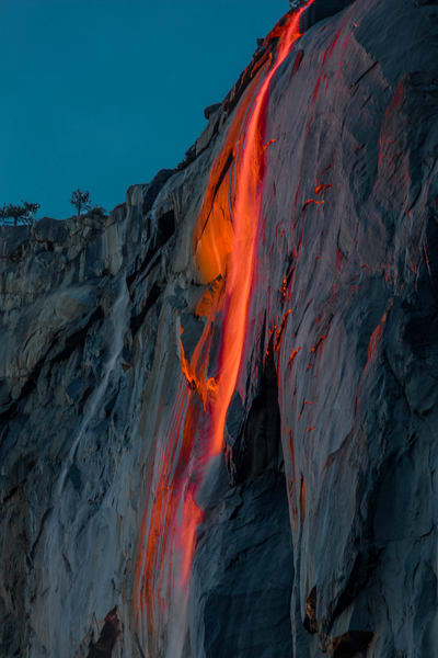 Yosemite Firefall Horsetail Falls photograph for sale as art.