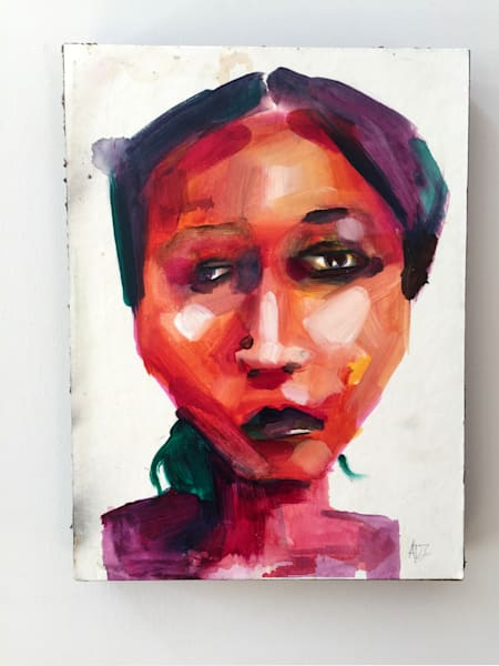 Hadiza Painting by Angela Davis Johnson.
