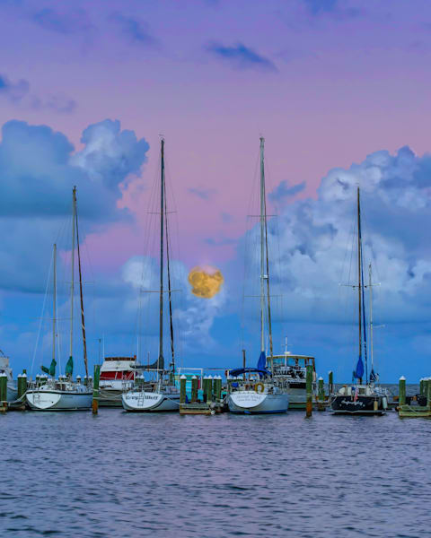 Fulton Harbor Super Moon Photography Art | John Martell Photography