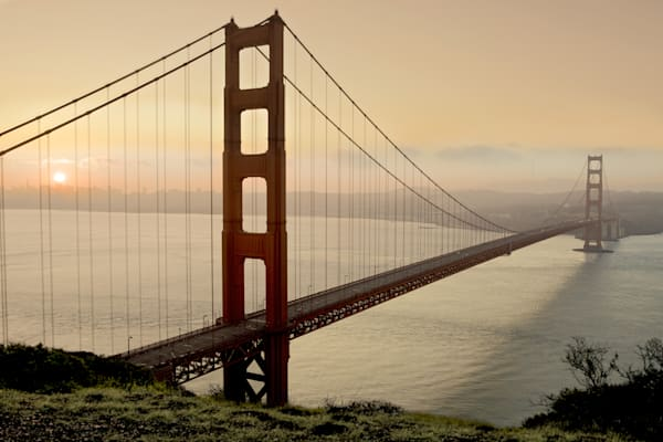 Golden Gate Sunrise #2, B3127D.by Blaustein, Alan