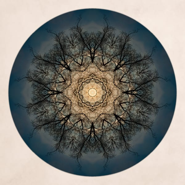 Moonlight for sale as fine art photographic mandala.
