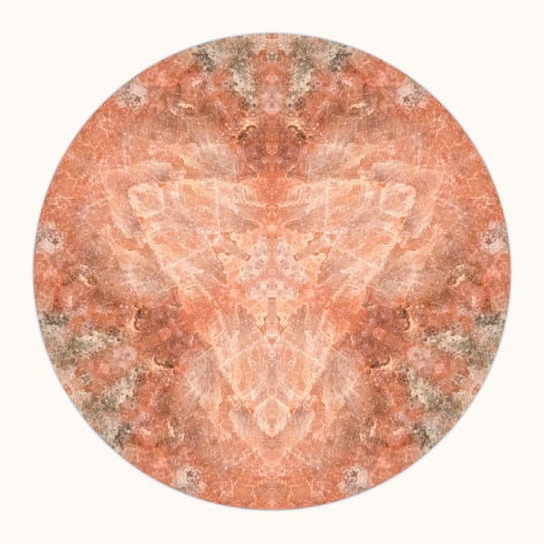 Rose Quartz for sale as fine art photographic mandala.