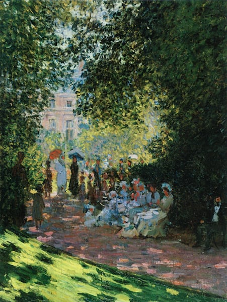 Parisians Enjoying Parc Monceau, MASCOL90329