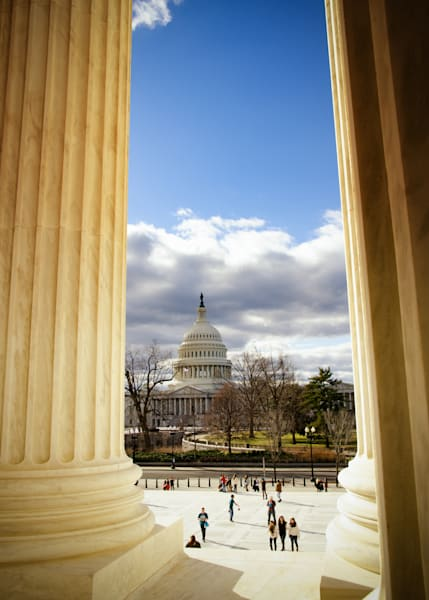 View of The Capitol from The Supreme Court | Fine Art Travel Photographs