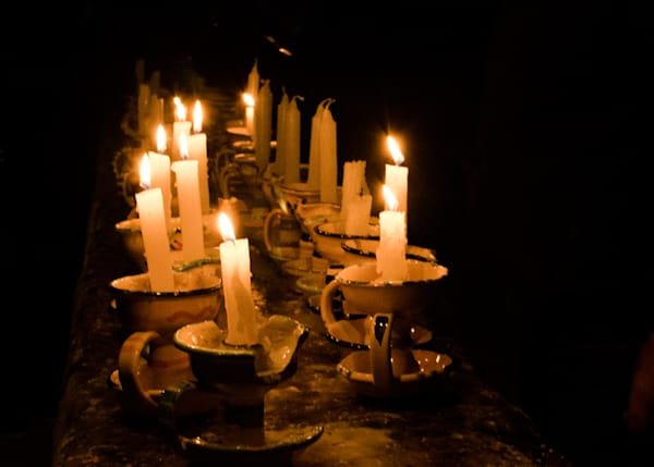 Candles in The Dark | Travel Photo For Sale