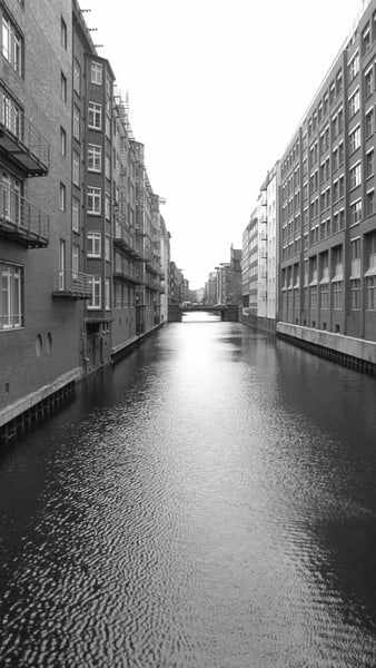 Hamburg Canal #1 Photography Art | Photoissimo - Fine Art Photography