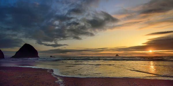 Arch Cape The Close of Day - Oregon Pacific Northwest - Fine Art Prints on Metal, Canvas, Paper & More By Kevin Odette Photography