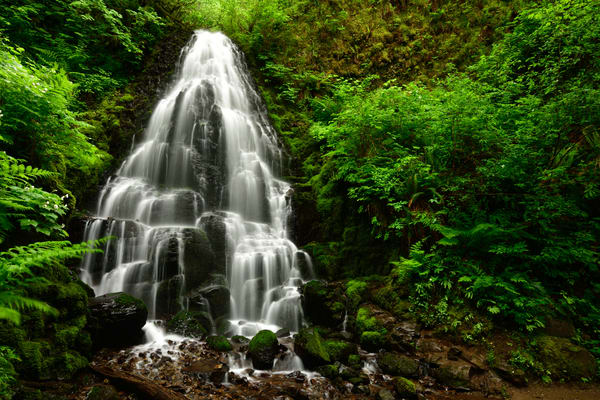 Fairy Falls in the Columbia River Gorge - Fine Art Prints on Metal, Canvas, Paper & More By Kevin Odette Photography