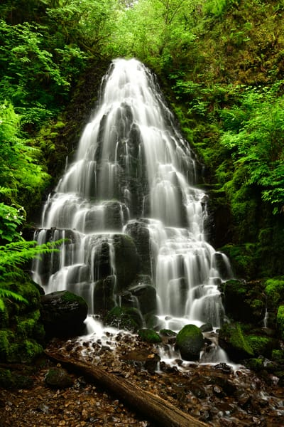 Imbue - Fairy Falls Columbia River Gorge - Fine Art Prints on Metal, Canvas, Paper & More By Kevin Odette Photography