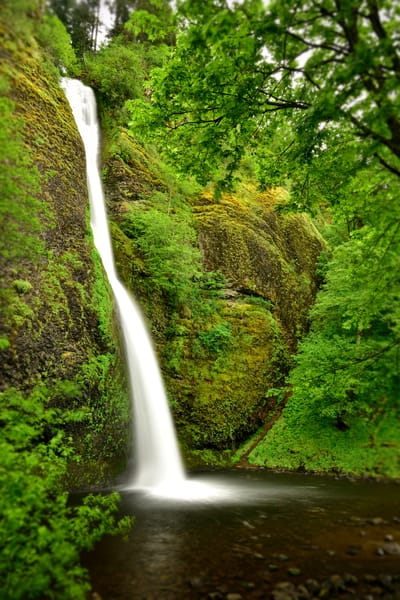 Horsetail Falls along the Columbia River Gorge, Oregon - Fine Art Prints on Metal, Canvas, Paper & More By Kevin Odette Photography