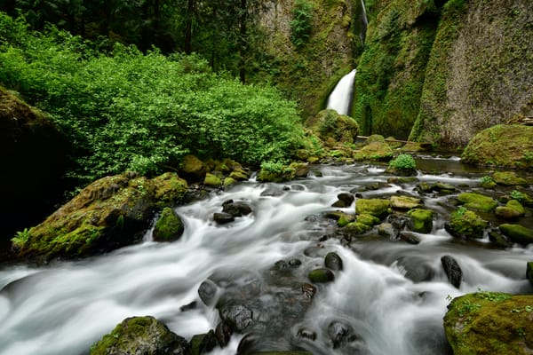 Wahclella Falls hidden in the Columbia River Gorge, Oregon - Fine Art Prints on Metal, Canvas, Paper & More By Kevin Odette Photography