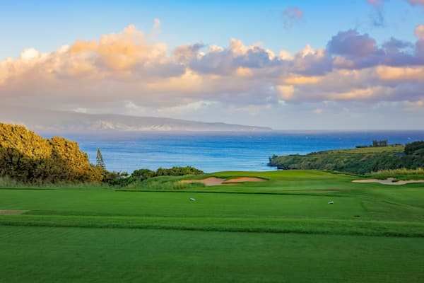 Plantation's 11th at sunup, Kapalua