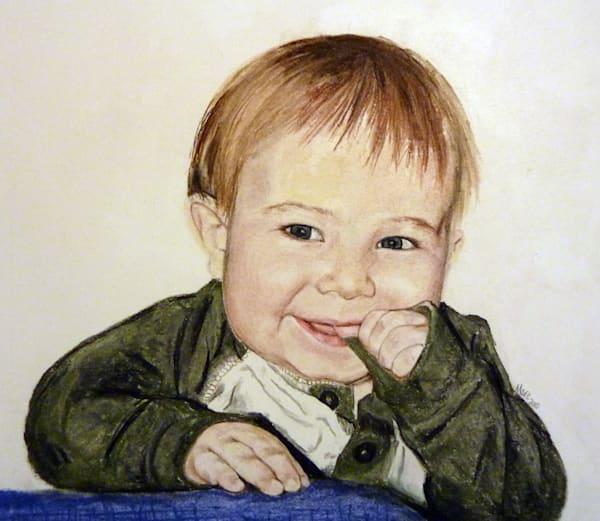 Baby portrait, pastel