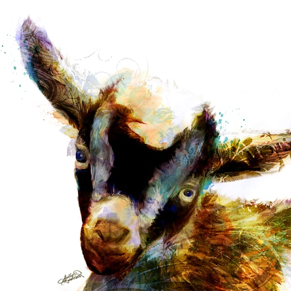Gilbert Gregory Goat Art by Sally Barlow