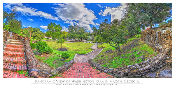 Panoramic View of Washington Park from Stone Staircase