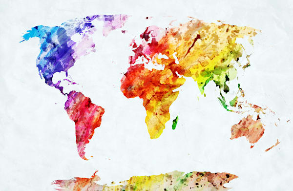 Watercolor World Map - DPC_59994506