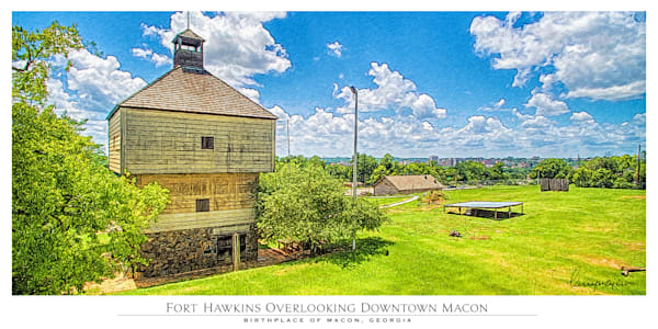 Fort Hawkins Overlooking Downtown Macon