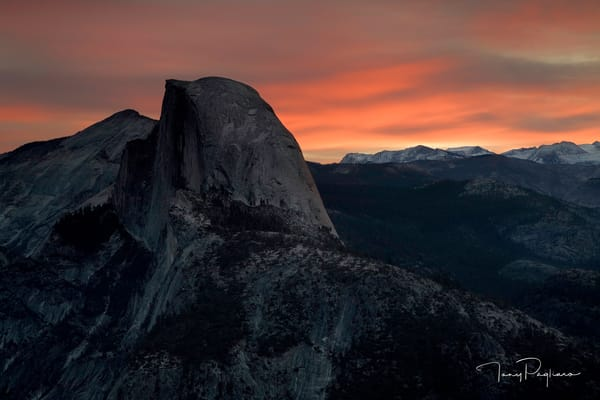 Half Dome at Dawn Photograph for sale as fine art by Tony Pagliaro