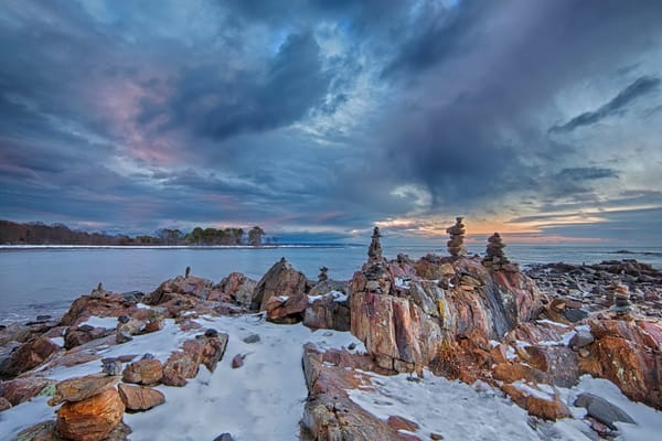Storm breaking over Odiorne Point, in Rye, New Hampshire