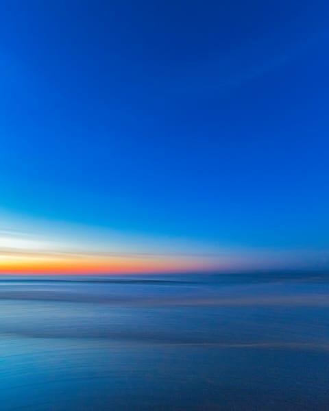 Enchanted winter ocean at Rye Beach