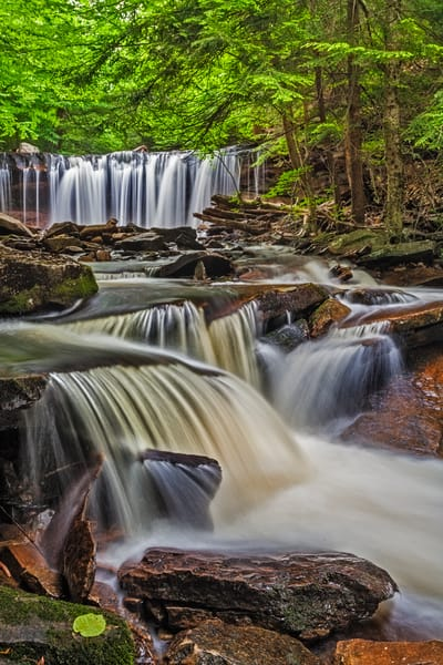 Rush Of The Spring Water At Ricketts Glen Art | Scott Snyder Photography