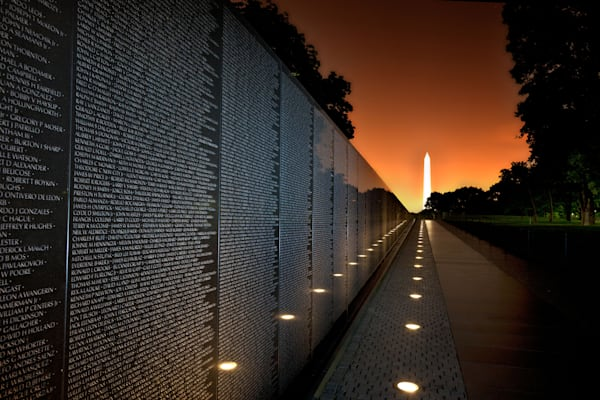 Vietnam Veterans Memorial Wall photograph for sale as art.