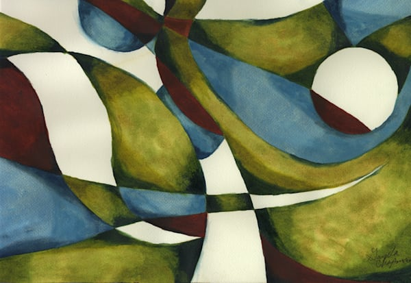 Exclusive abstract paintings by Gayela's Premiere Watercolors