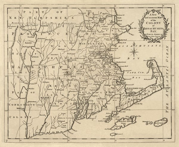 Colony of Massachusets Bay 1780