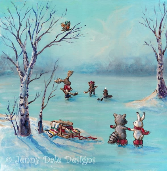 Winter In Canada Art | Jenny Dale Designs