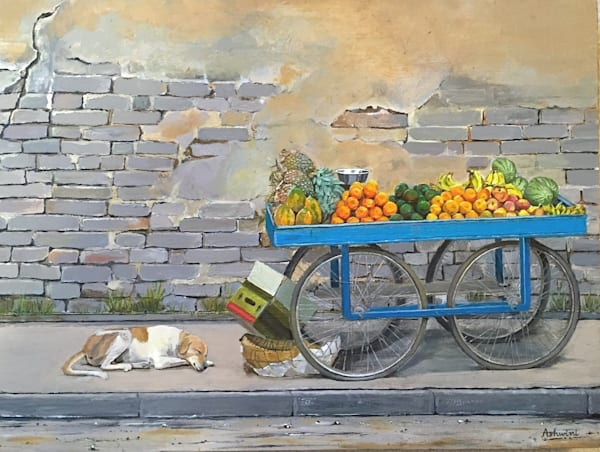 Siesta By The Fruit Stand Art by fountainhead