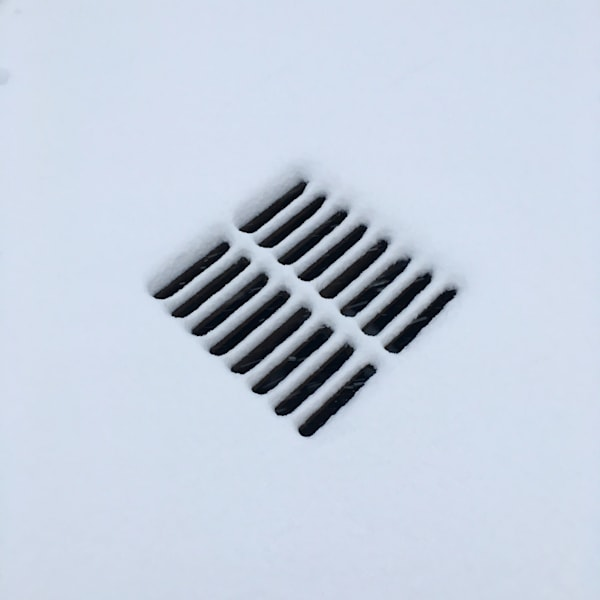 grate in snow