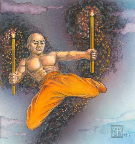 Orange Monk - original
