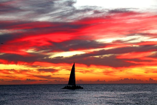 st-maarten-super-sunset photograph