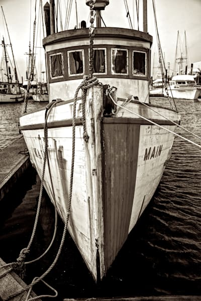 Nostalgic Photo Print of Charleston Fishing Boat