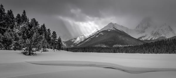 A Storm front Softly breaks on the Valley. |Canadian Rockies | banff national Park | Rocky Mountains |
