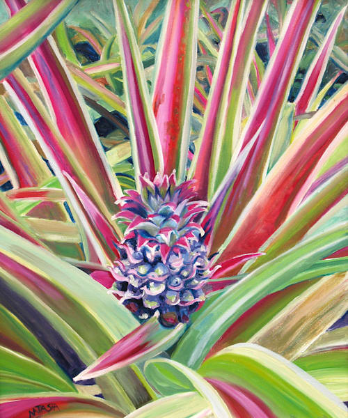 Pineapple Flower Art for Sale