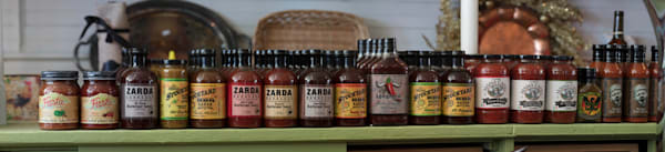 BBQ Sauce Collection In General Store photograph for sale as art by Mike Jensen