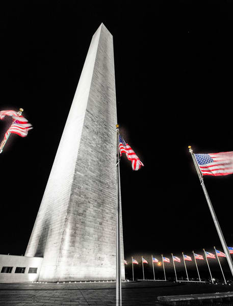 Washington Monument At Night photograph for sale as art by Mike Jensen