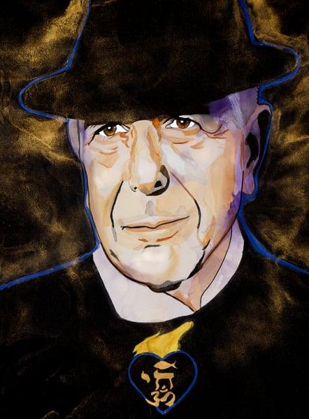 Leonard Cohen Art | William K. Stidham - heART Art