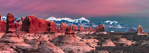 Red Rocks Winter Sunset photograph for sale as art by Mike Jensen