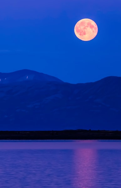 Super Moon on Lake Iliamna